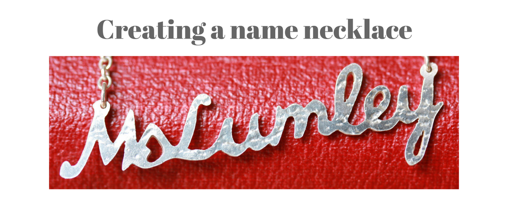 Creating a name necklace