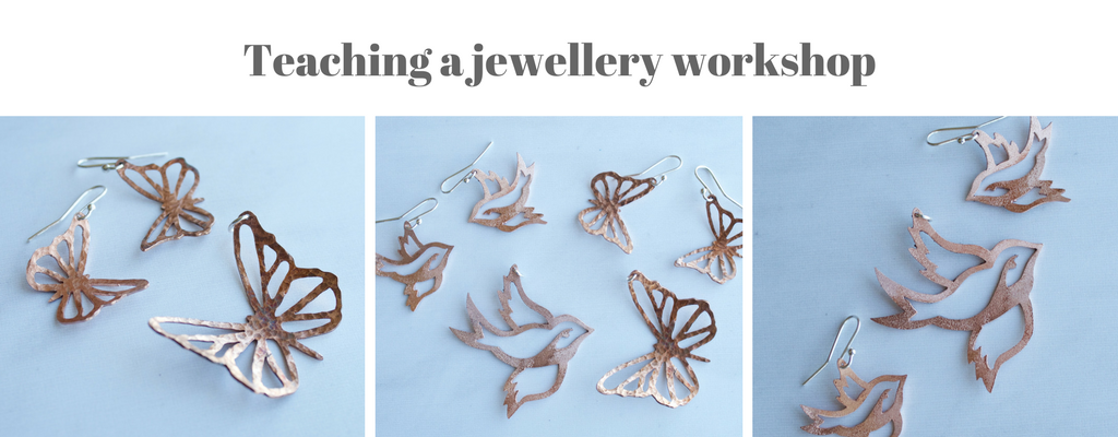 Teaching a jewellery workshop