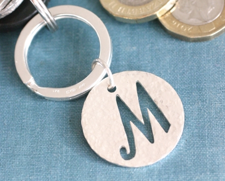 chunky silver keyring (hammered)