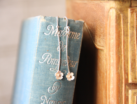 daisy long drop earrings