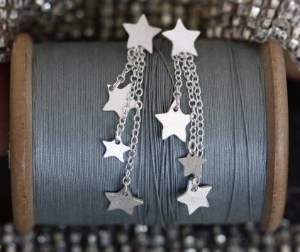 dangly star earrings