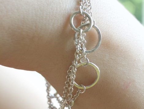 ring and chain bracelet