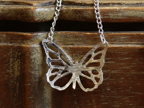 silver butterfly necklace (small)